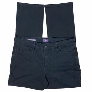 NYDJ Black Samantha Slim 5 Pocket Skinny Jeans